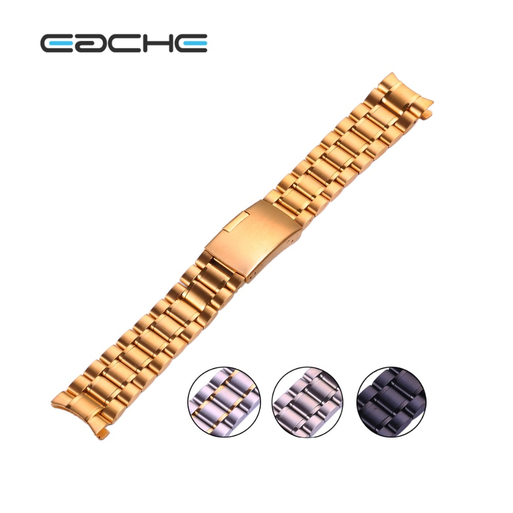 Solid Stainless Steel Watch Band straps Curved Head 18mm 20mm 22mm 24mm hot sale stainless steel watch band 18mm 20mm 22mm for baume