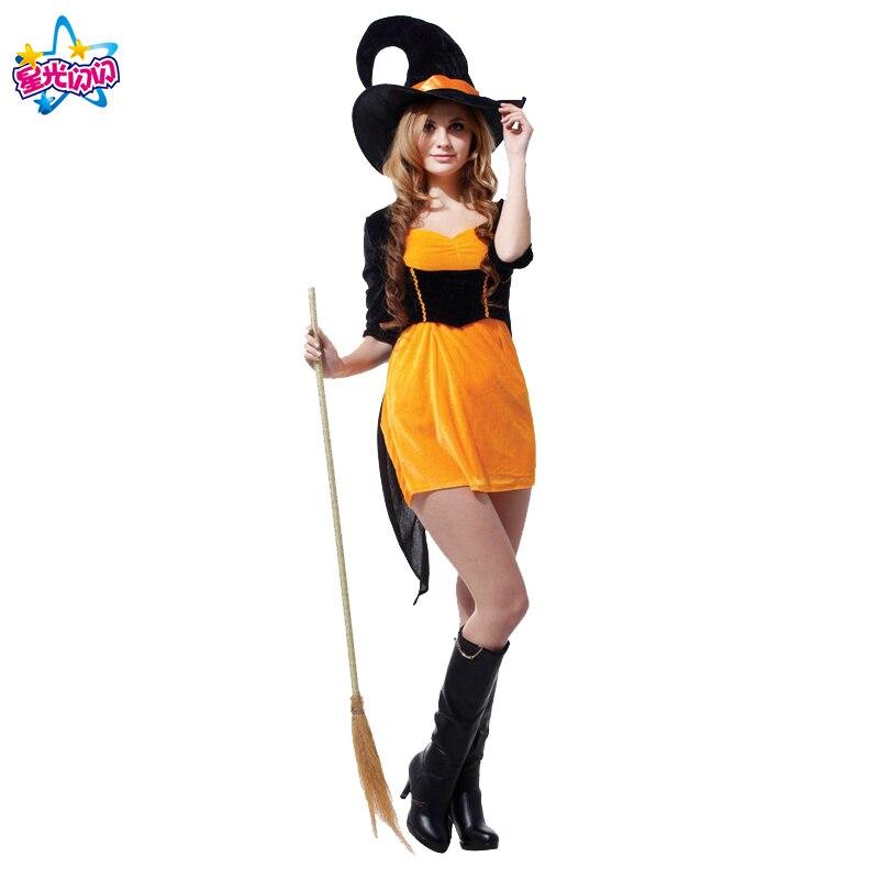 Gratis frakt Mode Halloween Kostym Vuxna Kvinnor Sexig Plus Storlek - Maskeradkläder och utklädnad - Foto 3