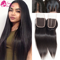 Peruvian Virgin Hair Closure Cheap Straight Hair Closure Piece 4*4 Lace Clousure Peruvian Straight Closure On Sale Free Shipping