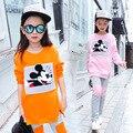 3 4 6 8 10 12 anos adolescente marca nwe meninas fleece roupas definir 2 pcs casaco + calças crianças inverno quente algodão minnie mouse roupas