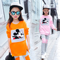 3 4 6 8 10 12 years teenage brand nwe girls fleece clothes set 2pcs coat + pants kids winter warm cotton minnie mouse clothes