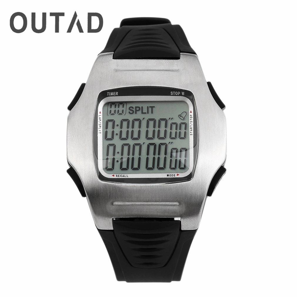 OUTAD Soccer Referee Digital Watches Multifunzione Orologio da polso Cronometro Cronografo Cronografo Countdown Football Club Uomo