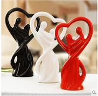 Couple crafts ornaments, creative ceramic decorations, desktop gadgets, Valentine's Day gifts