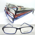 Wholesale 78165 full-rim lightweight injection acetate simple rectangle bicolor temples optical eyeglasses frame free shipping