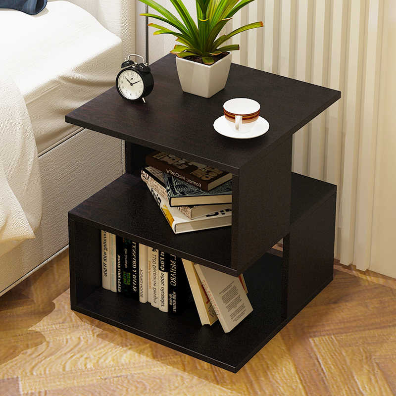 Simple bed multi-purpose storage table living room sofa table small coffee table 40X40X43.6CM