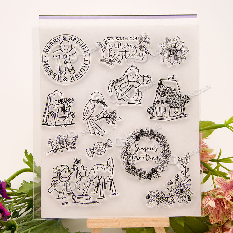 Snowy day Transparent Clear Silicone Stamp/Seal for DIY scrapbooking/photo album Decorative clear stamp sheets A267 lovely animals and ballon design transparent clear silicone stamp for diy scrapbooking photo album clear stamp cl 278