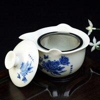 Drinkware Transparent Glass Teacup TeaPot Set Clear Glass Gaiwan 380ml Kung Fu Tea Cup Coffee Cup