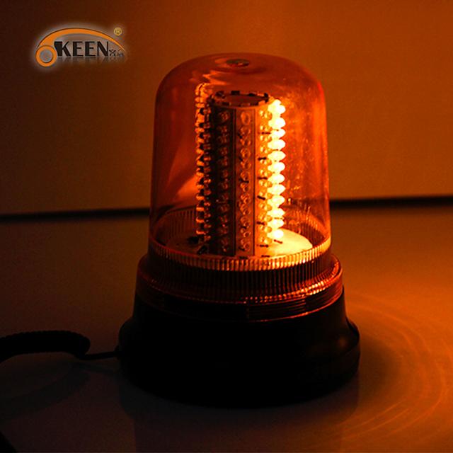 Carro LEVOU ABS Amarelo Rotativo Lâmpada Nova Lâmpada De Emergência Strobe Flashing Luz de Advertência do Flash À Prova D' Água DC12V 15 W Farol em Nightime