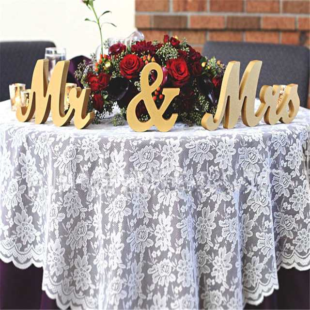 Online Shop Gold Wooden Mr & Mrs Standing Letters Wedding Table ...