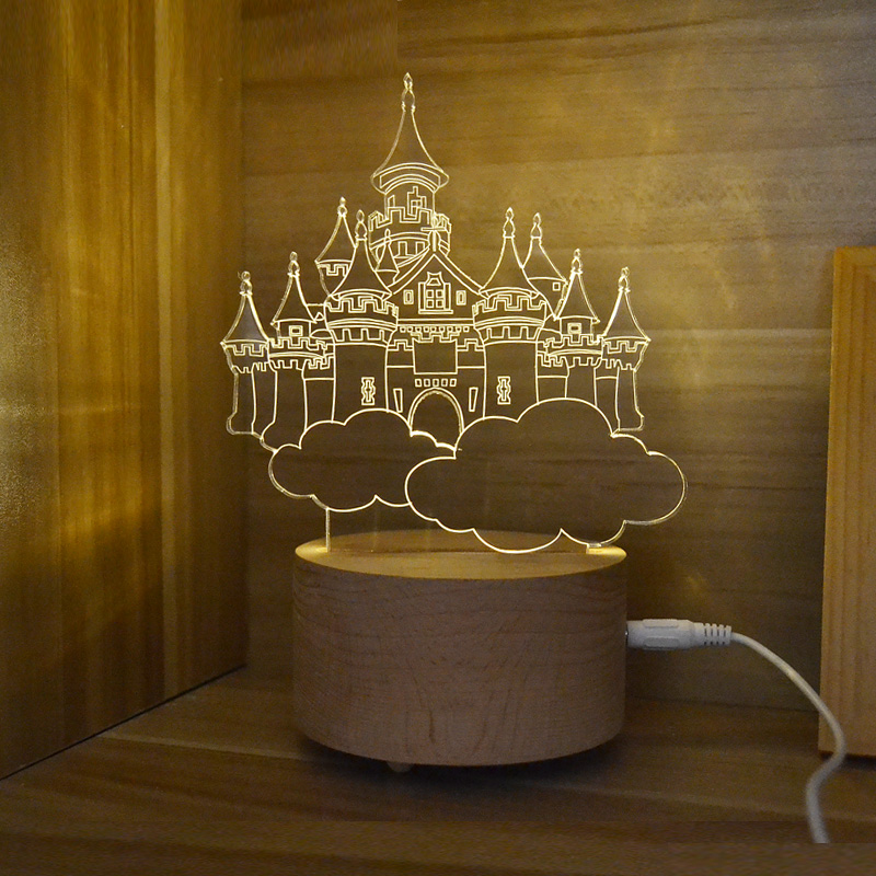 3D Illusion Light Decoration Lamps 3d Led Nightlight Creative Kid Night  Light Room Decor Christmas Gifts For Child Friend GT02 In Night Lights From  Lights ...