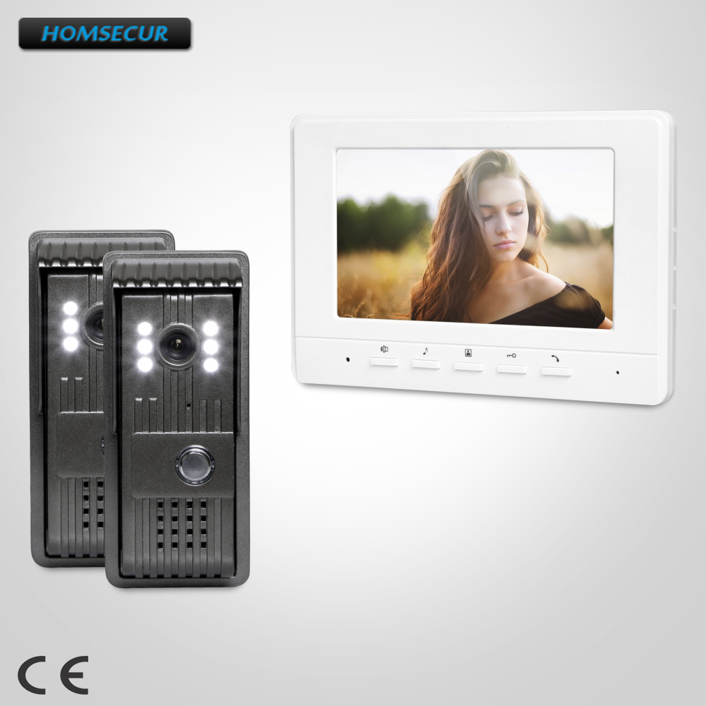 HOMSECUR 7 Video Security Door Phone with Mute Mode for Home Security for House/ Flat  XC003+XM707-WHOMSECUR 7 Video Security Door Phone with Mute Mode for Home Security for House/ Flat  XC003+XM707-W