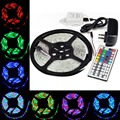 DC12V 5M/Lot 3528 SMD 300 Leds RGB Waterproof Flexible LED Strip Light + 44 Key IR Remote + 12V 2A Adapter