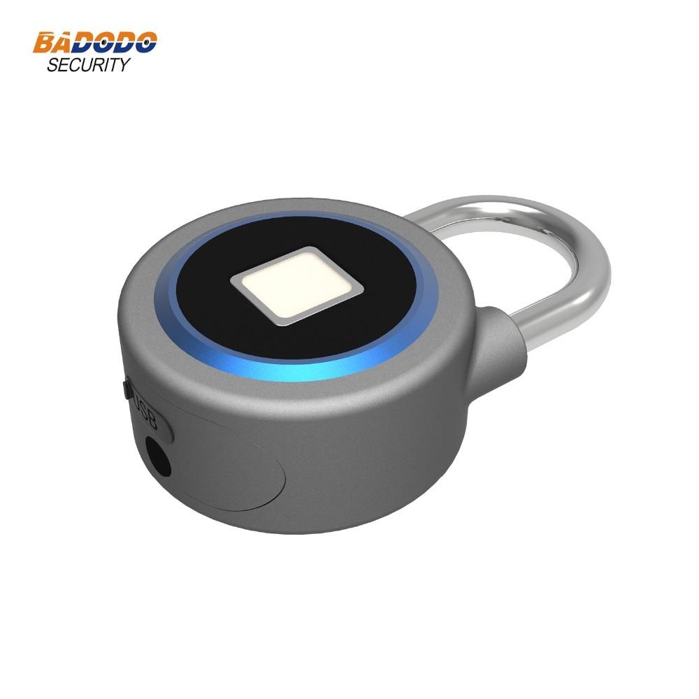 Image 4 - Waterproof Keyless portable Bluetooth smart Fingerprint Lock padlock Anti Theft iOS Android APP control door cabinet padlock-in Electric Lock from Security & Protection