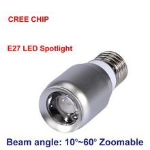 New Zoom Mini Spot Led Light Cob Cree Chip E27 1W Led Spotlight 3000K 6000K Bulb Lamp Museum Cabinets Lighting 110V 220V