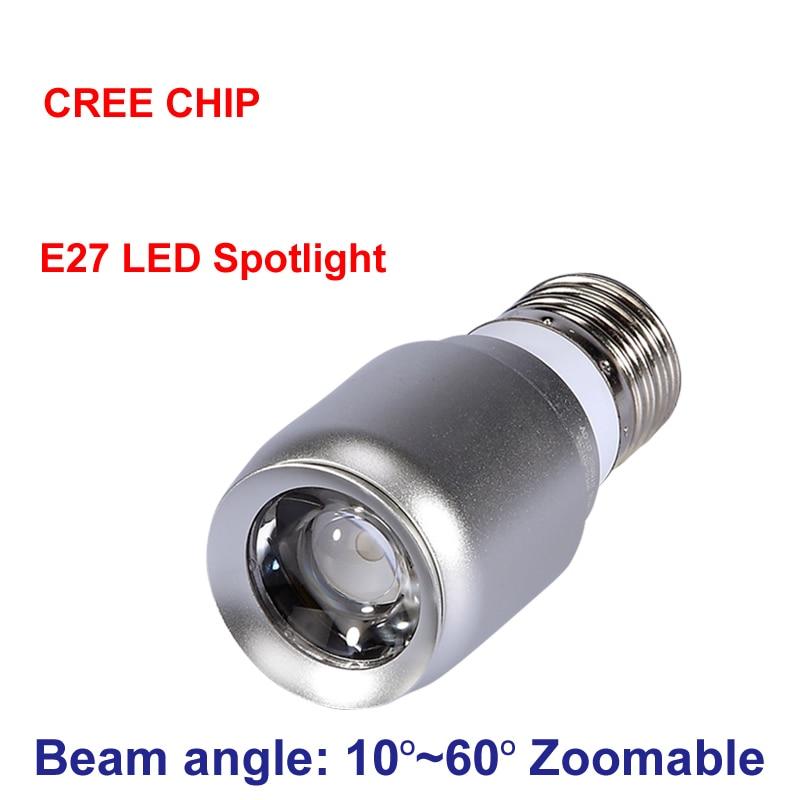 New Zoom Mini Spot Led Light Cob Cree Chip E27 1W Led Spotlight 3000K 6000K Bulb Lamp Museum Cabinets Lighting 110V 220V