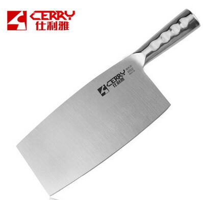 Free Shipping CERRY Stainless Steel Kitchen Cleaver Chef Meat Vegetable Slicing font b Knife b font