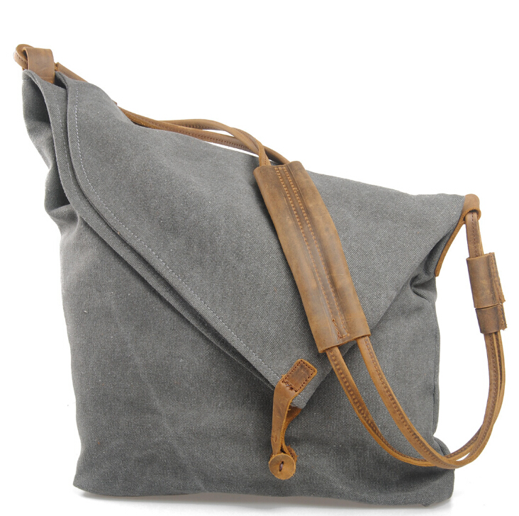 Fashion vintage Women Handbag Canvas leather Shoulder Bag Messenger Crossbody Bags Satchel Solid Color Casual Tote Wholesale aerlis brand men handbag canvas pu leather satchel messenger sling bag versatile male casual crossbody shoulder school bags 4390