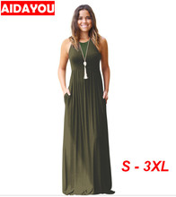 Womens Summer Boho Dress  Maxi Casual Beach Plus Size Female Black Long Dresses OUC3140