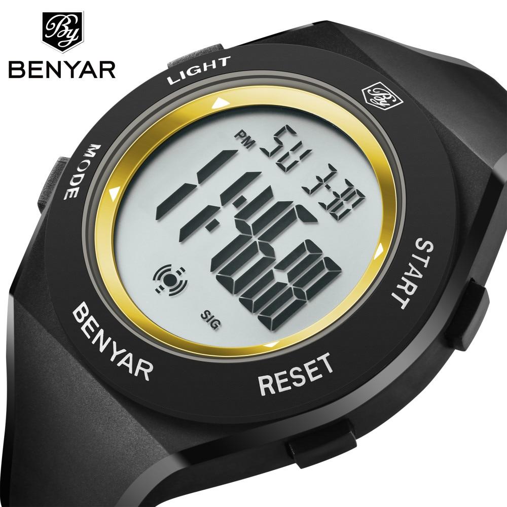 New Design BENYAR Men Watch 2018 Top Luxury Brand Sport Watch Electronic LED Digital Male Clock Man 30M Waterproof Men's Watches brand design 2016 new man