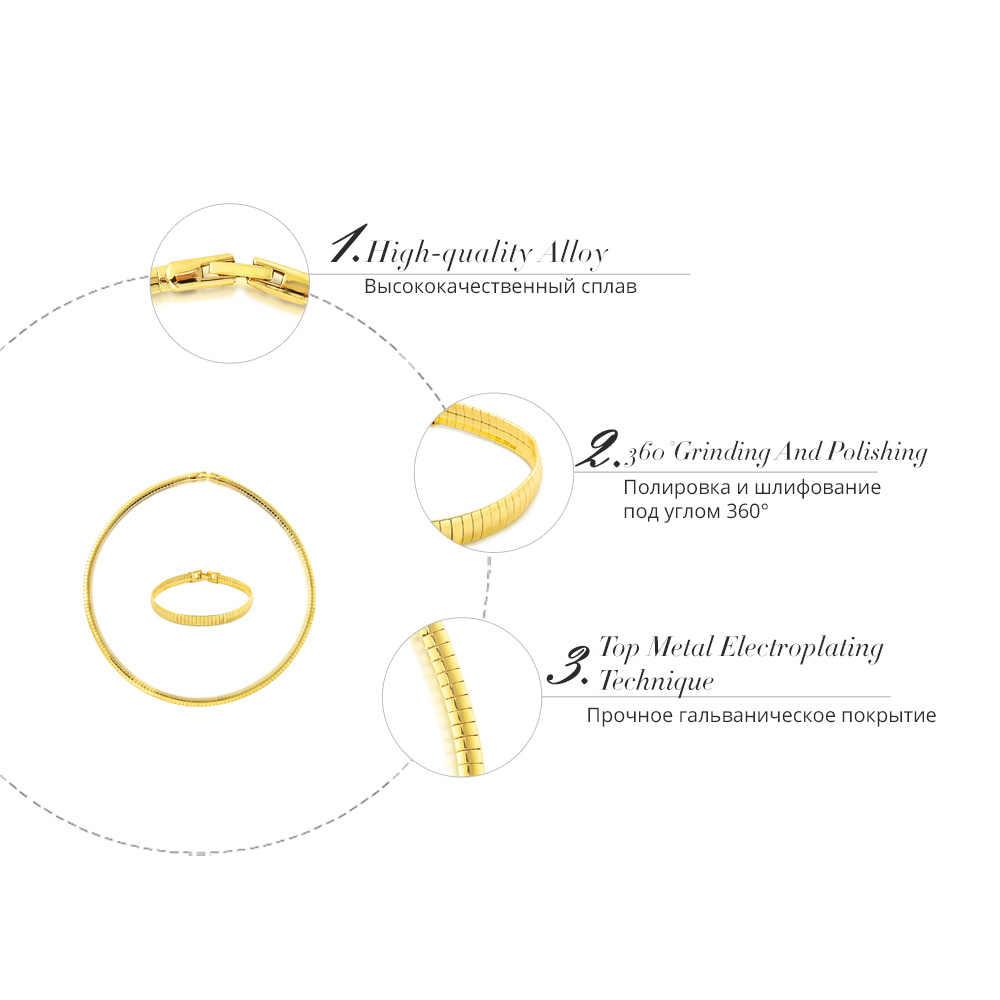 Viennois luxe or couleur métal ensemble de bijoux pour femmes Bracelet colliers Chokers fête bijoux de mariage