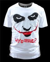 Free shipping Batman The Dark Knight Joker Print Cotton T Shirt O Neck Men Tee T Shirt Cosplay Costume for Summer 02