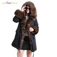 Thicken Genuine Mink Fur Coat With Hooded Women Super Collar Real Fur Waistcoats Winter Fur Jacket Wrinkle free Adult Clothes