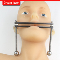 Cleaning up inventory can adjustable Mouth yoke,Adult Games Mouth Flail Mouth Gag Bondage Set Mouth Bite Sex Toy Slave Gag