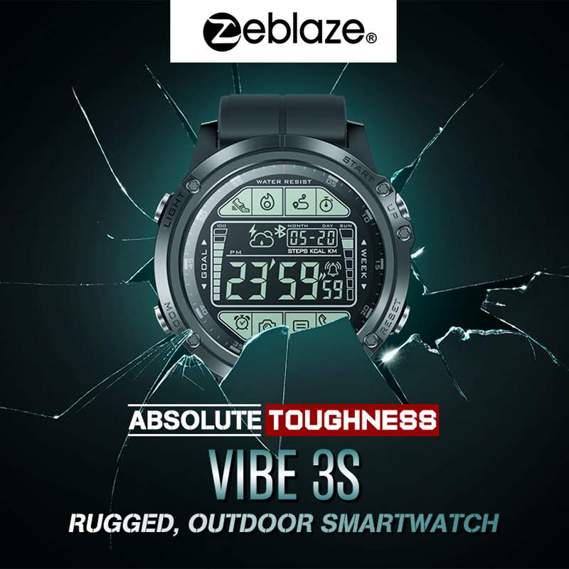 Image 5 - 2019 Upgrade Zeblaze VIBE 3 S 3S Rugged Outdoor Smart Watch 50M Waterproof 5ATM Smartwatch Real time Weather Fitness Tracker Men-in Smart Watches from Consumer Electronics