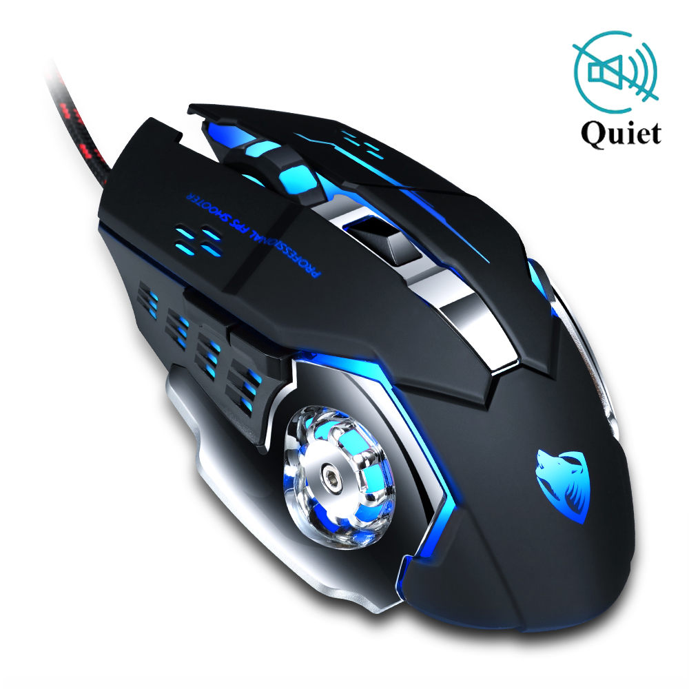 Professional Gamer Gaming Mouse 8D 3200DPI Adjustable Wired Optical LED Computer Mice USB Cable Silent Mouse for laptop PC