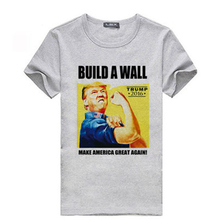 2016 Amarican Election T shirt Knitted Good Quality Cotton Funny Short Sleeve O neck Donald Trump