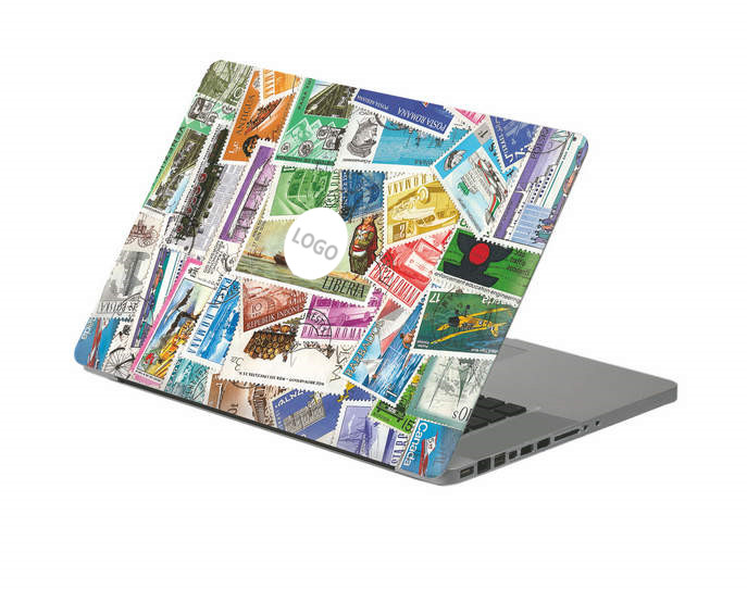 Vintage stamp collection Laptop Decal Sticker Skin For MacBook Air Pro Retina 11 13 15 Vinyl Mac Case Body Full Cover Skin