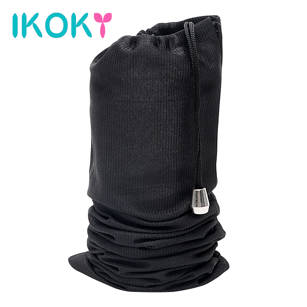 IKOKY Discreet Storage Bags Sexy Dildo Hidden Pouch Special Secret Storage Cover Sex Toys For Vibrator Penis Anal Plug 14*30cm