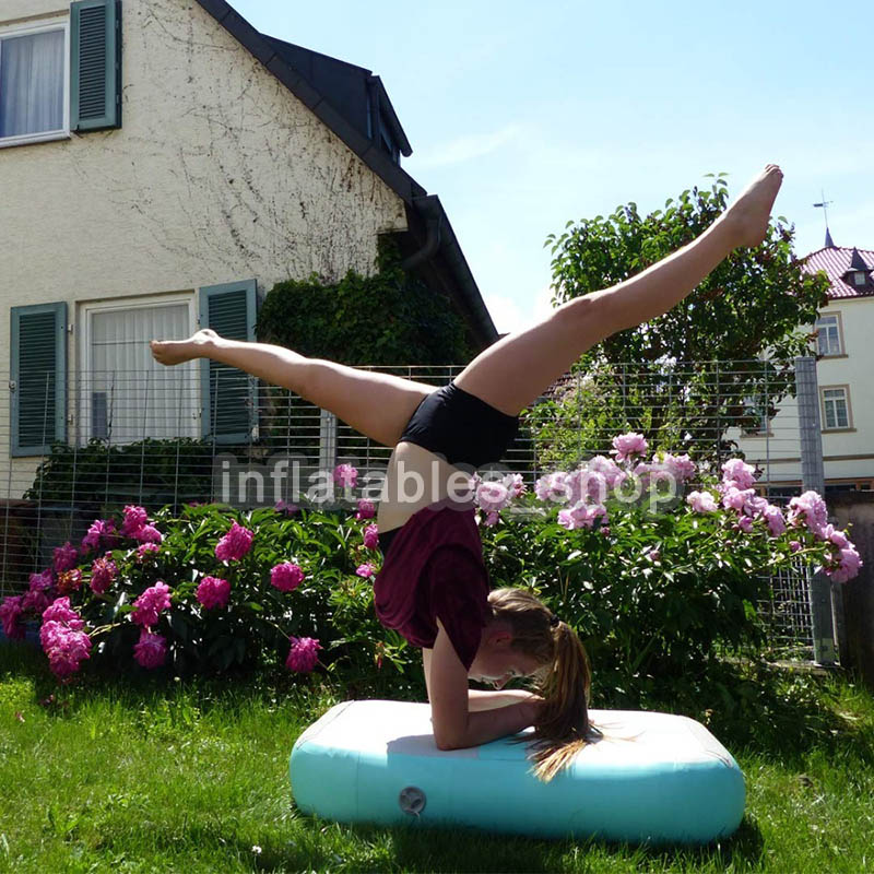 Inflatable Gymnastic Airtrack Tumbling Yoga Air Trampoline Track For birthday Training Taekwondo Cheerleading 1M*0.6M Pink Blue