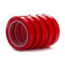 Newest Red Color 3M Double Sided Adhesive Tape Super Fix Transparent No Traces Tape for Car Auto Interior Fixed 10/15/20/25mm 5 rolls 9mm 50 meters 3m double face high adhesion adhesive black tape for home appliance control panel car parts screen fix