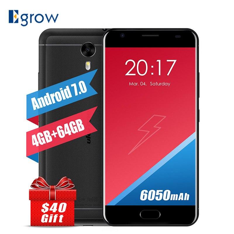 """bilder für Ulefone Power 2 Smartphone 4G LTE 5,5 """"1920*1080 pixel MTK6750T Octa-core Android 7.0 4 GB + 64 GB Handys 6050 mAh Handy"""