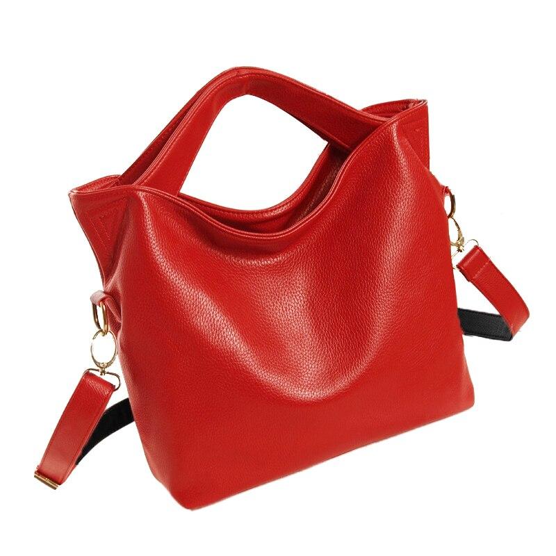 Hot Fashion Women Vintage PU Leather Tote Handbag Chic Office Ladies Crossbody Messenger Shoulder Bag 1