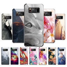Tempered Glass Case For Coque Samsung S8 S9 Cover S10 Galaxy M20 A7 2018 a750 Bags Fundas