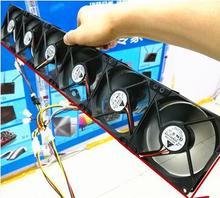 Добывающая охлаждения радиатора 8 вентиляторов Бесплатная доставка