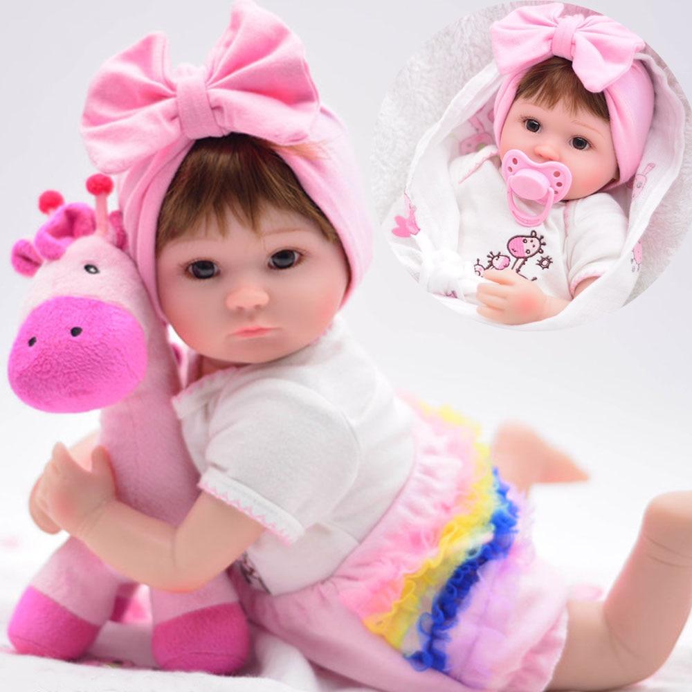 16 40 cm bebês reborn silicone bonecas bonecas Bebe de menina de moda de alta qualidade Meninas Brinquedos Presente de Aniversário Coleção Limitada