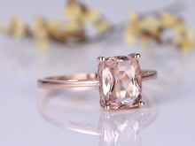 MYRAY Natural 7x9mm Cushion Cut Pink Morganite Gemstone Vintage Engagement Ring Women Wedding Rings 14k Rose Gold Jewelry Band