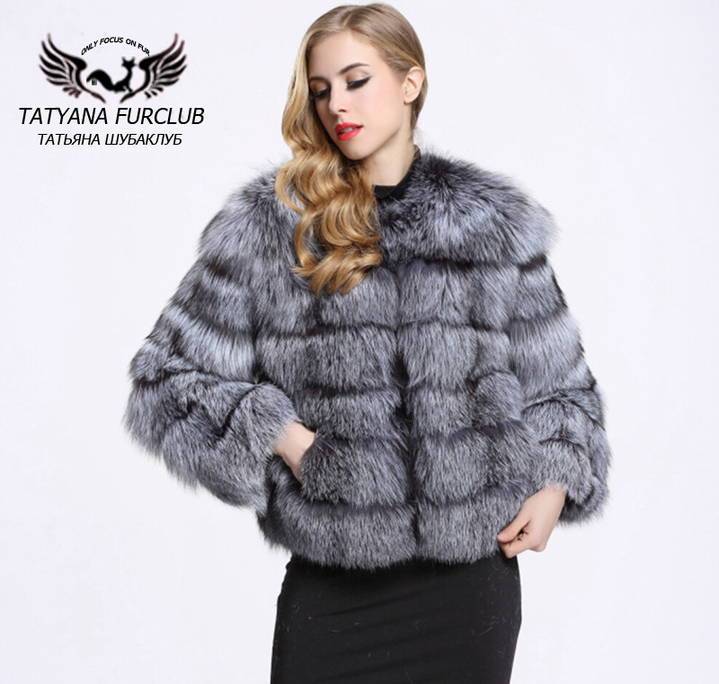 dfac96f36 Top Quality Whole Skin Genuine Silver Fox Fur Coat Women's Sliver Fox Fur  Jacket Real Fur Coats Short Medium Style BF C0011-in Real Fur from Women's  ...