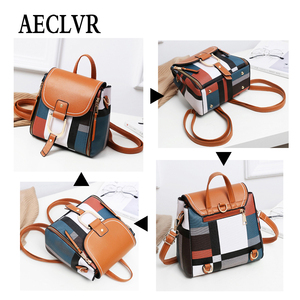 Image 4 - AECLVR Women Backpack Designer High Quality PU Leather Female Bag Fashion School Bags Large Capacity Backpacks Travel Bags