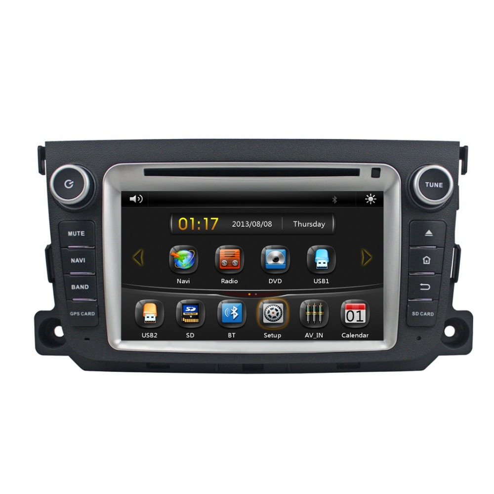 HD 2 din 7 Car DVD GPS for Mercedes Benz Smart 2012 2013 2014 With Radio