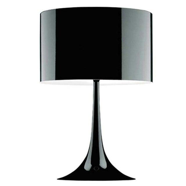 White/Black Metal Aluminum Lampshades Modern Table Lamp Nordic Led Desk Lamp  Design Office Desktop