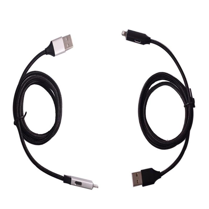 Многофункциональный зарядный кабель для передачи данных для телефона Кабель-адаптер заря ...