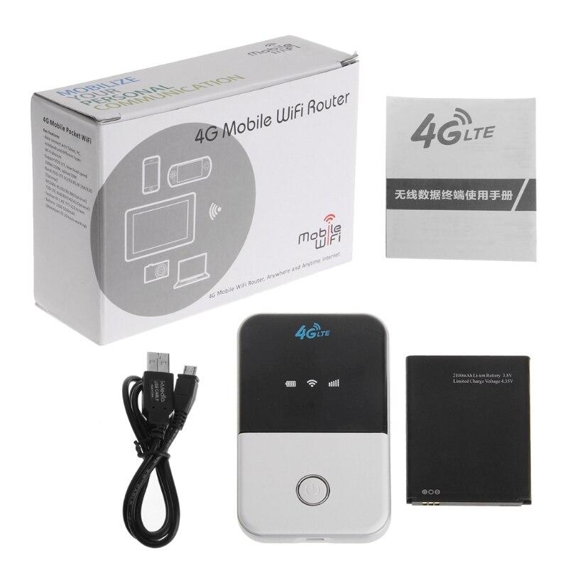 Wireless Wifi Router 3G 4G Lte Hotspot Car Wifi Router Sim Card Slot MF825