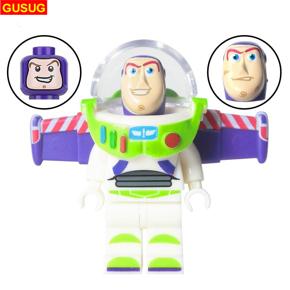GUSUG 50PCS Super Hero Marvel Avengers Toy Story Series Buzz Lightyear with three Expression Building Blocks Gift DIY Baby Toys