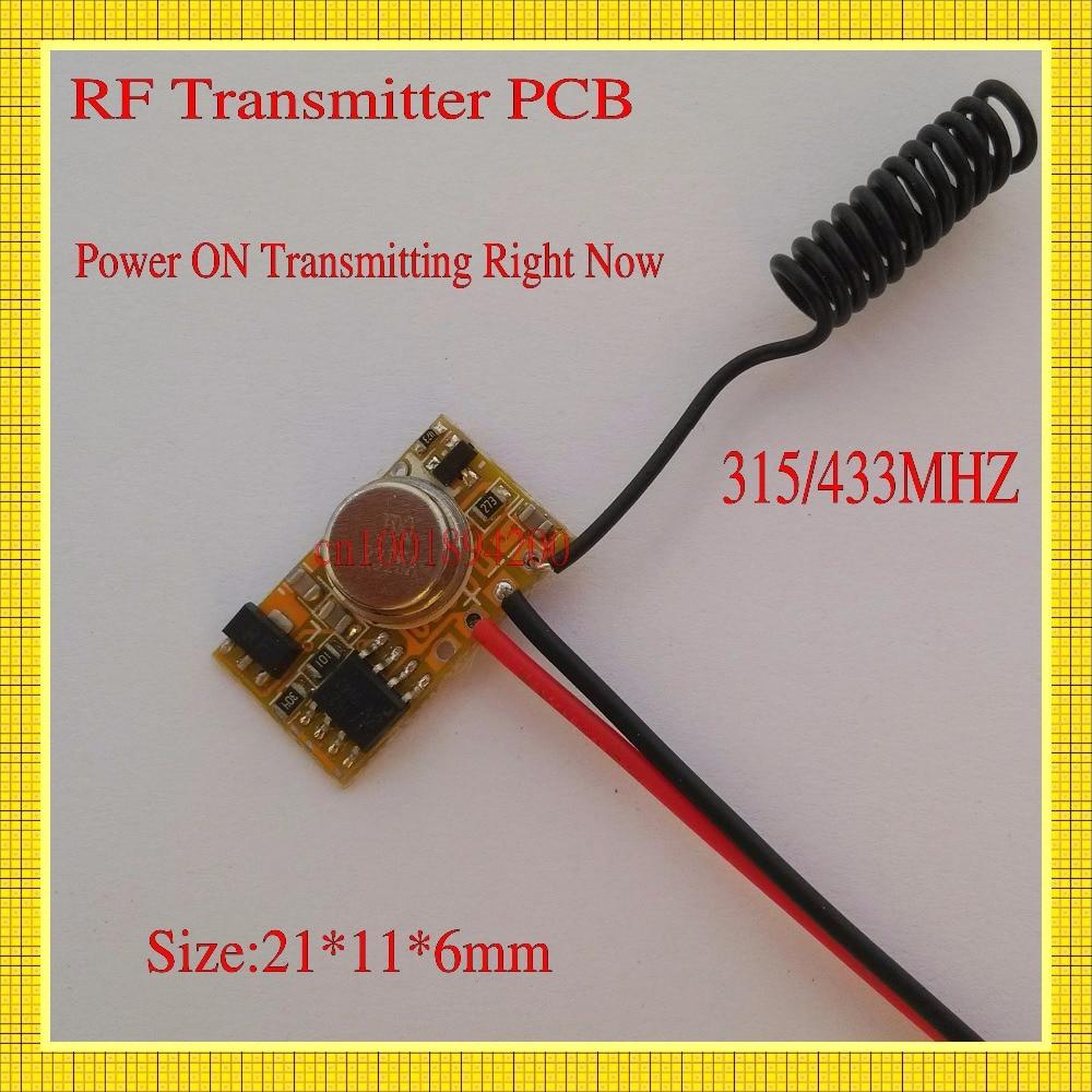 EV 1527 Remote Control Micro Radio Transmitter PCB 315/433 1CH Input Power Transmitting Signal for Car Bus Truck GSM Home Alarm