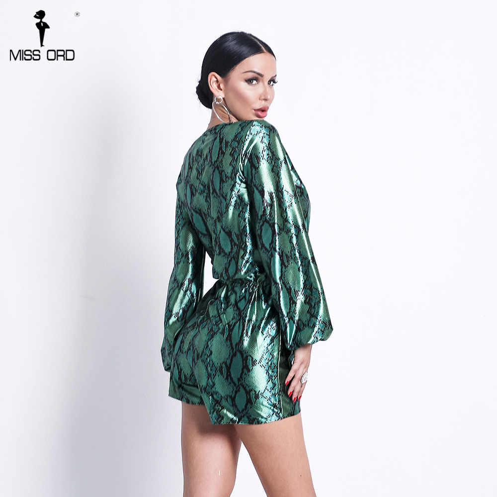 dbf18b149a4 ... Missord 2019 Sexy Women Sexy Deep V Neck Long Sleeve Print Rompers  Jumpsuit Female Lace-
