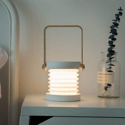 criativo led multifuncional viagem de acampamento lanterna portatil dobravel usb levou secretaria casa luz noturna